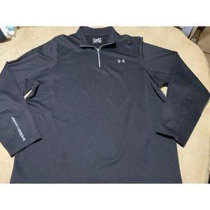 Mens Black Under Armour Quarter Zip Pullover